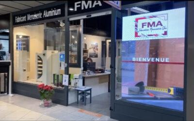 FMA Menuiserie – ecran vitrine