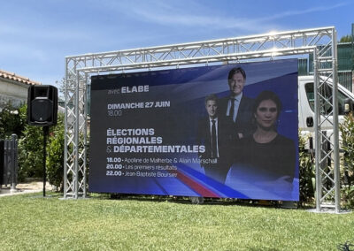 Ecran Rental Élections régionales & départementales